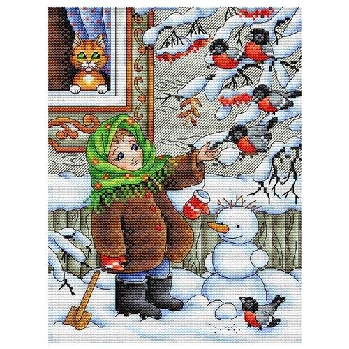 Жар-птица Набор для вышивания Зимняя прогулка 17 x 23 см (м-320), Наборы для вышивания  - купить со скидкой