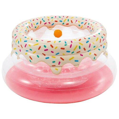 Купить Надувной манеж Intex My First Gym 48476 розовый/белый, Манежи