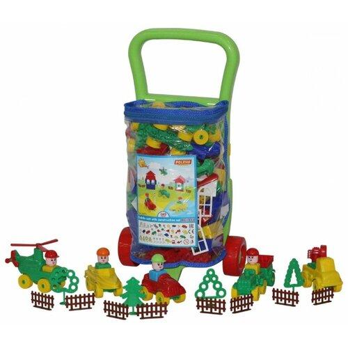 Фото - Конструктор Полесье Строитель 54470-160 Тележка полесье игрушечная тележка supermarket 1 с набором продуктов цвет в ассортименте