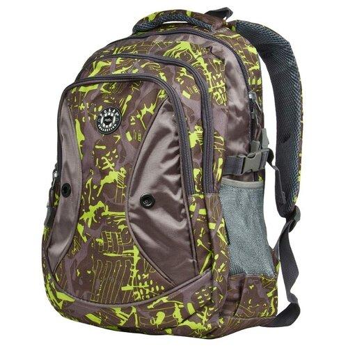 цена на Рюкзак POLAR 80062 24.5 коричневый/зеленый