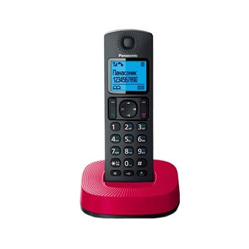 Купить Радиотелефон Panasonic KX-TGC310 черный/красный