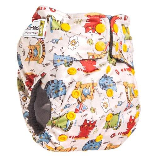 Купить GlorYes! подгузники Premium (3-18 кг) 1 шт. Котята, Подгузники