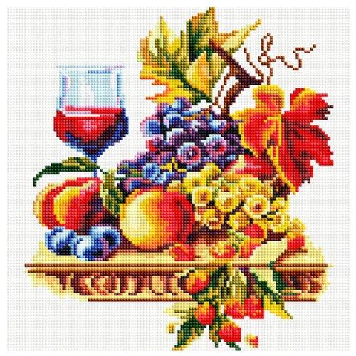 Белоснежка Набор алмазной вышивки Натюрморт с виноградом (355-ST-S) 30x30 см