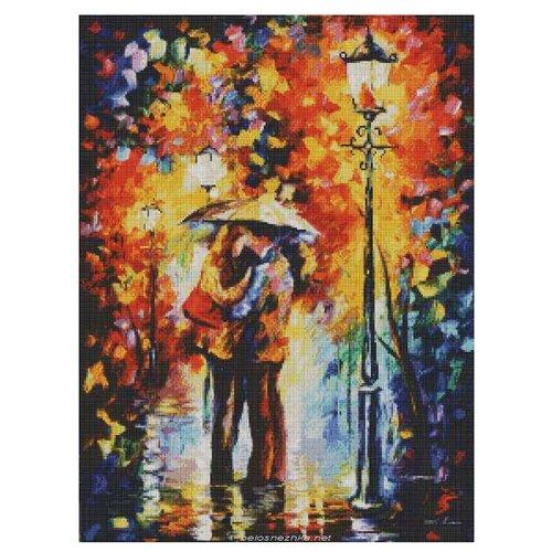 Купить Белоснежка Набор алмазной вышивки Поцелуй под дождем (153-ST-S) 40x50 см, Алмазная вышивка