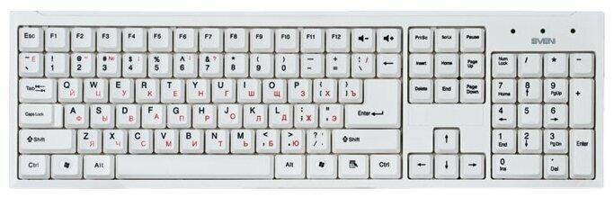 Клавиатура SVEN Standard 303 White USB