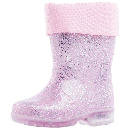 Резиновые сапоги КОТОФЕЙ 266019-11 размер 25, розовый