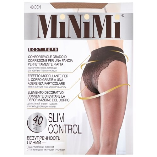 Колготки MiNiMi Slim Control 40 den, размер 4-L, caramello (бежевый) колготки minimi slim control 20 den размер 3 m caramello бежевый