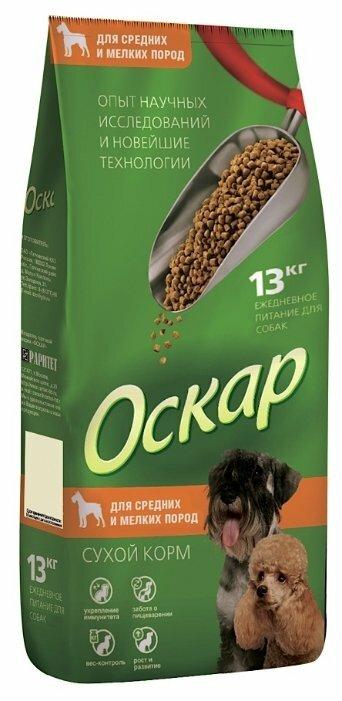 Корм для собак Оскар (13 кг) Сухой корм для собак Средних и Мелких пород