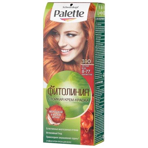 Фото - Palette Фитолиния Стойкая крем-краска для волос, 390 8-77 Светлая медь, 110 мл palette фитолиния стойкая крем краска для волос 868 3 68 шоколадно каштановый