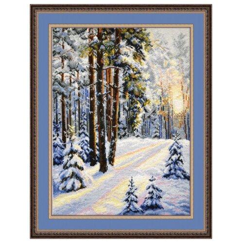 Купить Овен Цветной Вышивка крестом Зимняя дорога 30 х 40 см (727), Наборы для вышивания