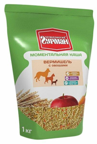 Корм для собак Четвероногий Гурман Вермишель моментального приготовления 2 кг