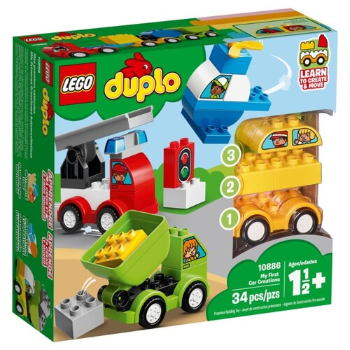 Конструктор LEGO DUPLO 10886 Мои первые машинки lego duplo 10884 конструктор лего дупло мои первые цирковые животные