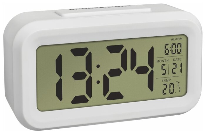 Часы с термометром TFA 60.2018, белый фото 1