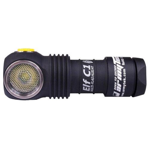 Ручной фонарь ArmyTek Elf C1 Micro-USB XP-L (теплый свет) + 18350 Li-Ion черный