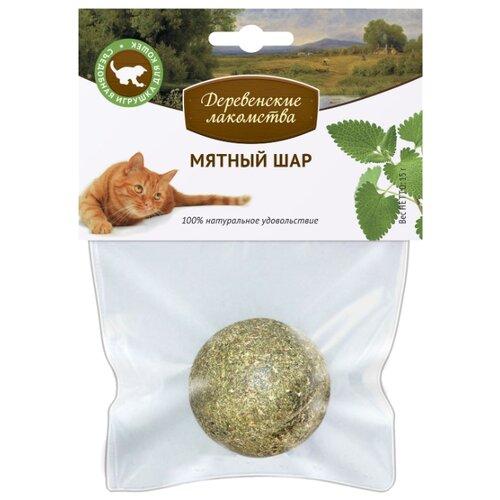 Лакомство для кошек Деревенские лакомства Мятный шар, 15 г