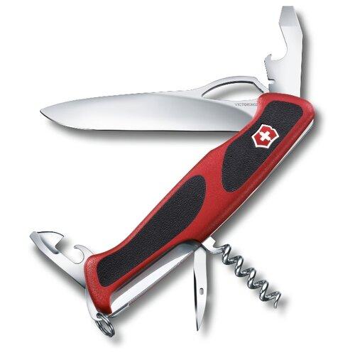 Нож многофункциональный VICTORINOX RangerGrip 61 (11 функций) красный/черный нож перочинный victorinox rangergrip 61 0 9553 mc4 130мм 11 функций чёрно зеленый
