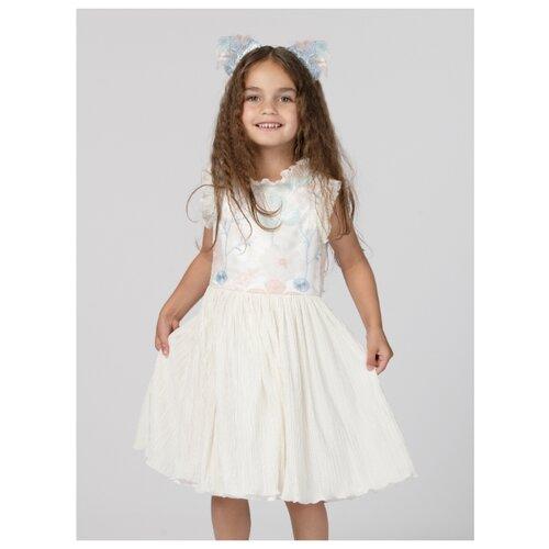 Платье Смена размер 116/60, молочный