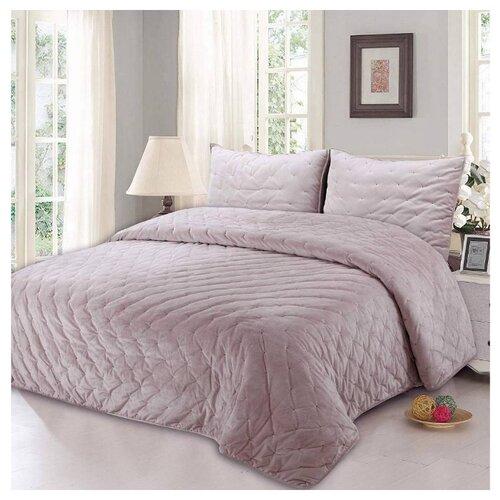 Комплект с покрывалом Sofi De MarkO Иоланта 240x260 см, розовый