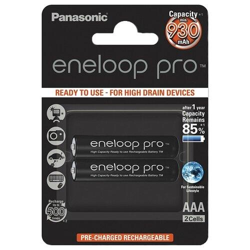 Аккумулятор Ni-Mh 930 мА·ч Panasonic eneloop pro AAA 2 шт блистер аккумулятор для камкордера panasonic cga d54s 1h