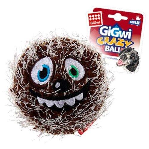 Мячик для собак GiGwi Crazy Ball теннисный (75341) коричневый