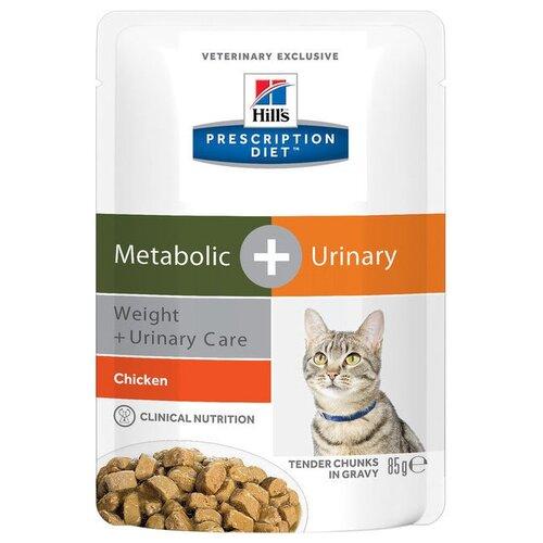Корм для кошек Hill's Prescription Diet для профилактики МКБ, при избыточном весе, с курицей 85 г (кусочки в соусе)