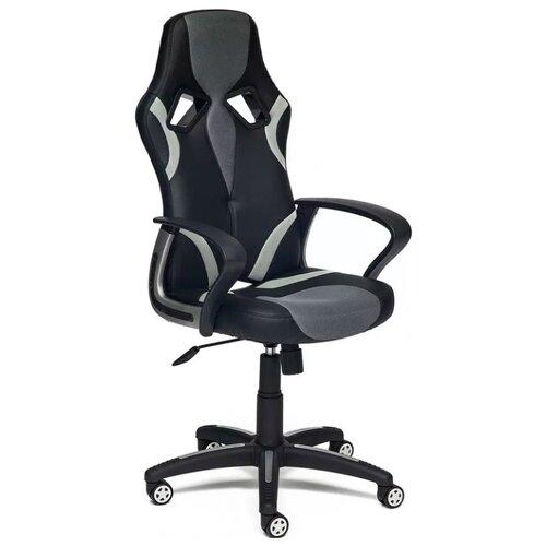 Компьютерное кресло TetChair Runner игровое, обивка: текстиль/искусственная кожа, цвет: черный/серый 36-6/12/14 компьютерное кресло tetchair runner игровое обивка текстиль искусственная кожа цвет черный желтый