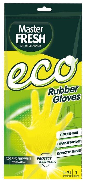 Перчатки Master FRESH ЭКО хозяйственные, 1 пара, размер S/M, цвет желтый
