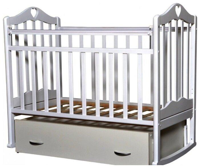 Кроватка Кедр Каролина-4 (поперечный маятник + качалка + ящик)