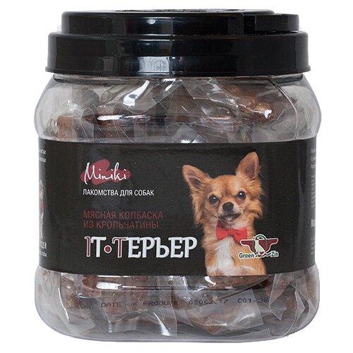 Фото - Лакомство для собак Green Qzin Miniki It-терьер, 520 г лакомство для собак green qzin miniki гибкость мягкие утиные хрящики для мини пород 260 г