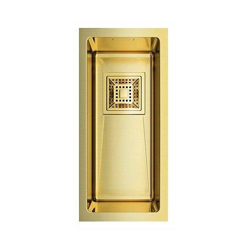 Врезная кухонная мойка 20 см OMOIKIRI Akisame 20-U-LG светлое золото врезная кухонная мойка 65 см omoikiri akisame 65 lg r светлое золото