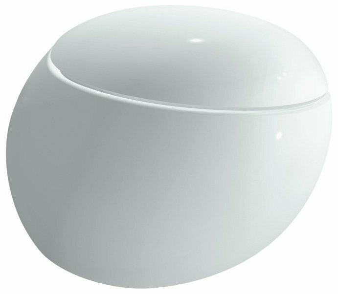 Чаша унитаза подвесная LAUFEN Alessi One 8.2097.6.400.000.1 с горизонтальным выпуском