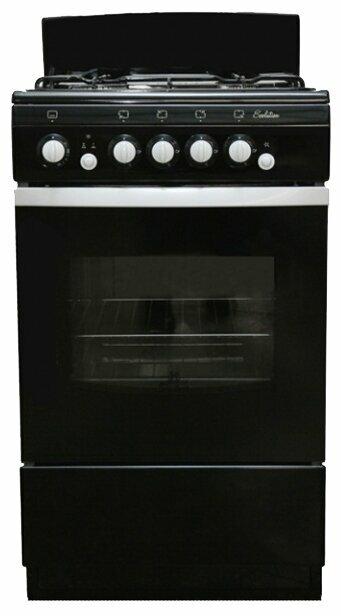 Газовая плита De Luxe 5040.36г щ черная