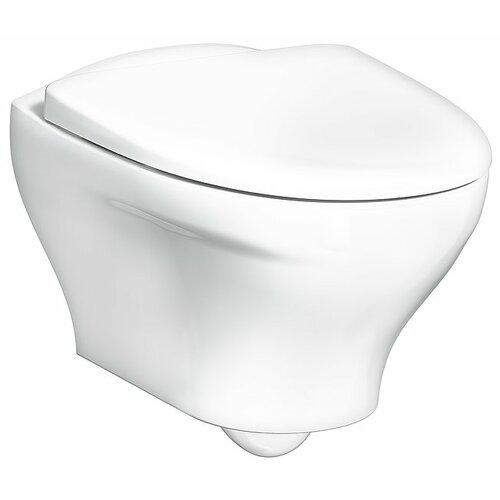 Чаша унитаза безободковая подвесная Gustavsberg Estetic GB1183300R1030 с горизонтальным выпуском чаша унитаза подвесная gustavsberg hygienic flush wwc 5g84hr01 с сиденьем микролифт с горизонтальным выпуском
