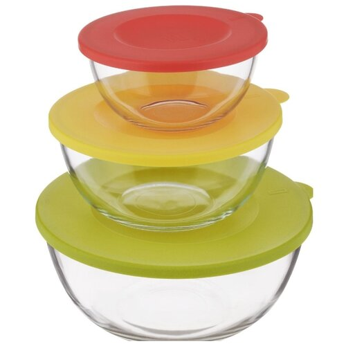 Glasslock Набор контейнеров GL-1157 прозрачный/красный/желтый/зеленый