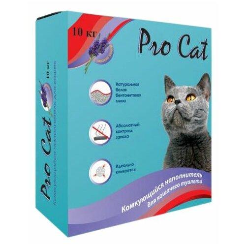 Комкующийся наполнитель Pro Cat Lavanda 10 кг впитывающий наполнитель pro cat premium mix 2 кг