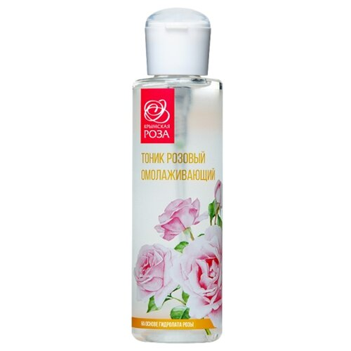 Купить Крымская роза Тоник Розовый омолаживающий на основе гидролата розы, 200 мл