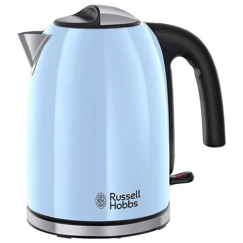Чайник Russell Hobbs 20417-70, голубой чайник russell hobbs 24991 silver