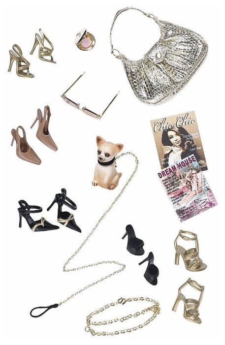 Barbie Комплект обуви и аксессуаров для куклы Барби Basics Look No. 02—Collection 001
