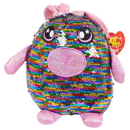 Купить Мягкая игрушка ABtoys Заяц с пайетками 20 см, Мягкие игрушки