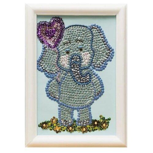 Купить Волшебная Мастерская Мозаика из пайеток Слоненок М022, Картины из пайеток