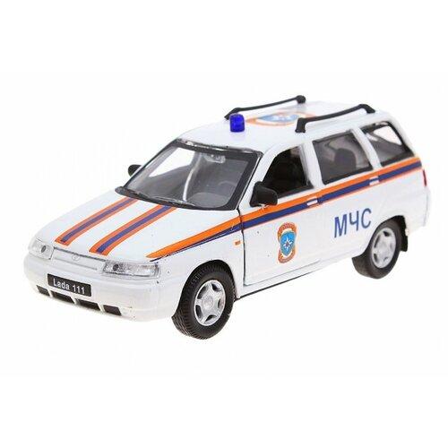 Легковой автомобиль Autogrand Lada 111 МЧС (2685) 1:36 11.5 см белый/оранжевый