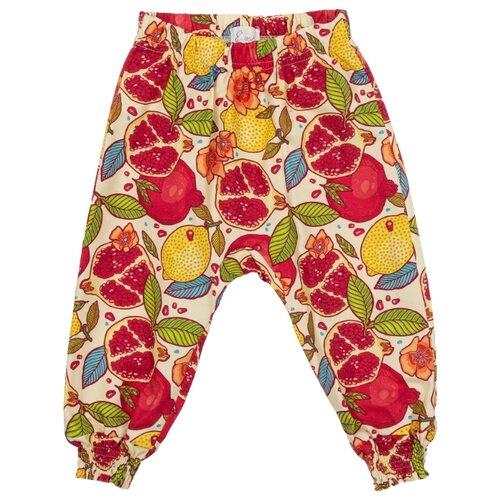 Купить Брюки ЁМАЁ Фруктовый взрыв 41-945 размер 86, желтый/красный, Брюки и шорты