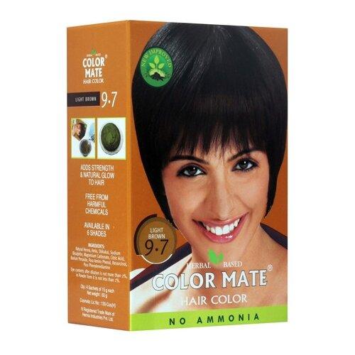 Хна Color Mate травяная краска для волос, тон 9.7 light brown, 75 гОттеночные и камуфлирующие средства<br>