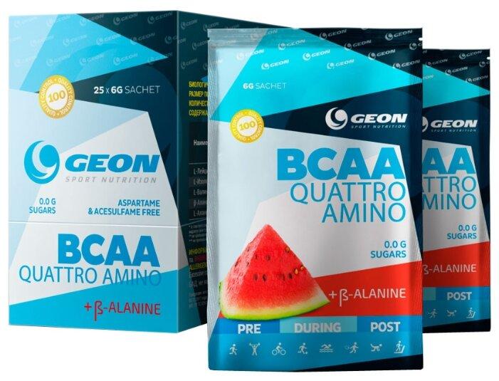 Аминокислотный комплекс G.E.O.N. BCAA Quattro Amino (25 саше х 6 г) клюква