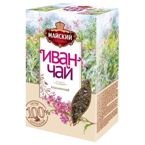 Чайный напиток травяной Майский Иван-чай Классический, 50 г майский чайная матрешка синяя черный листовой чай 30 г