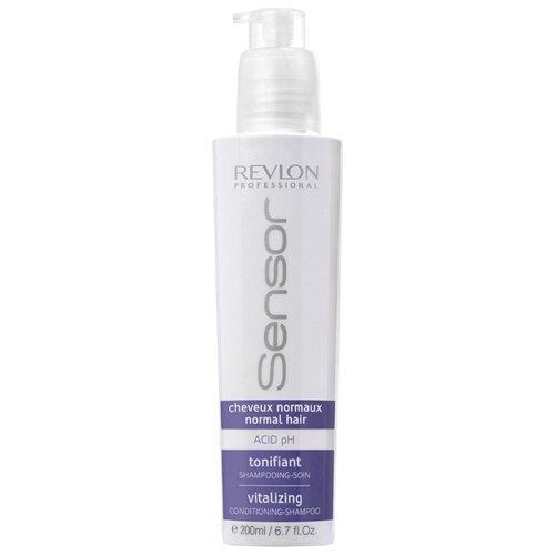 Revlon Professional шампунь-кондиционер Sensor Vitalizing 200 мл с дозатором шампунь кондиционер придающий энергию для нормальных волос sensor vitalizing shampoo 200 мл