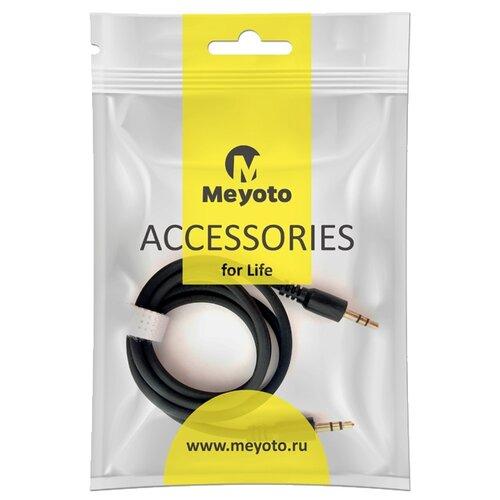 Кабель Meyoto mini jack 3.5 mm - mini jack 3.5 mm (MECAAU1-0BL01) 1 м черный