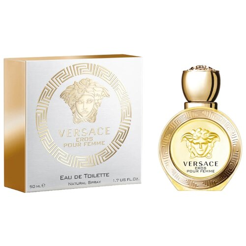 Туалетная вода Versace Eros pour Femme , 50 мл туалетная вода versace eros 100 мл мужская