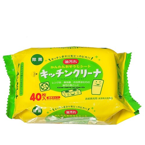 Салфетки влажные для уборки на кухне CAN DO 40 шт.