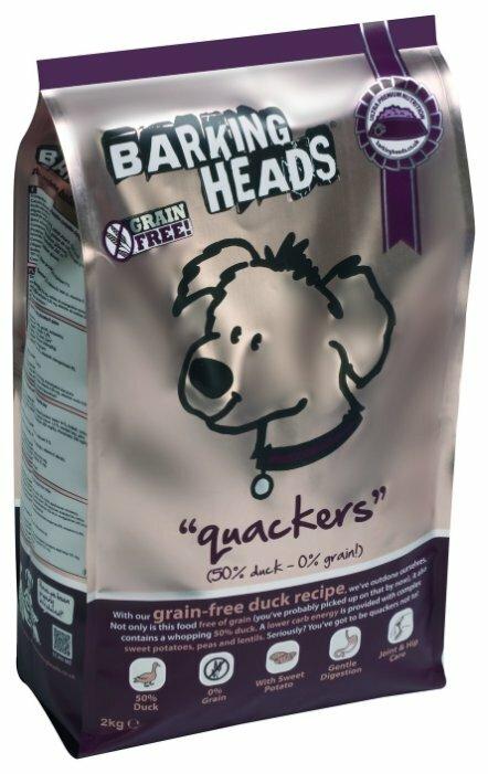 Корм для собак Barking Heads Беззерновой корм для собак с уткой и бататом Восхитительная утка (18 кг)